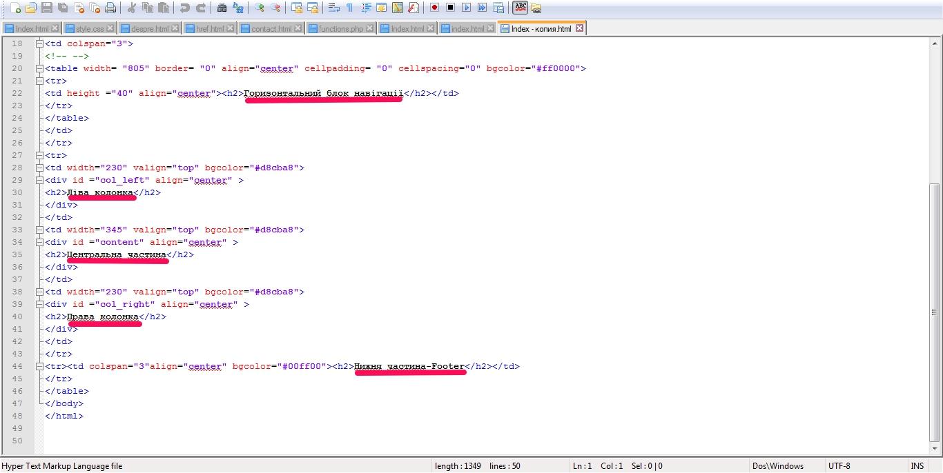 Как в html сделать каталог 350