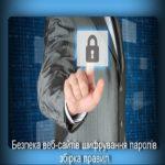 Безпека веб-сайтів шифрування паролів збірка правил