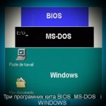 Три програмних кіта BIOS  MS-DOS   і WINDOWS