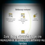 Zura – blog відвідало більше ста відвідувачів за день і про вебвізор від Yandex